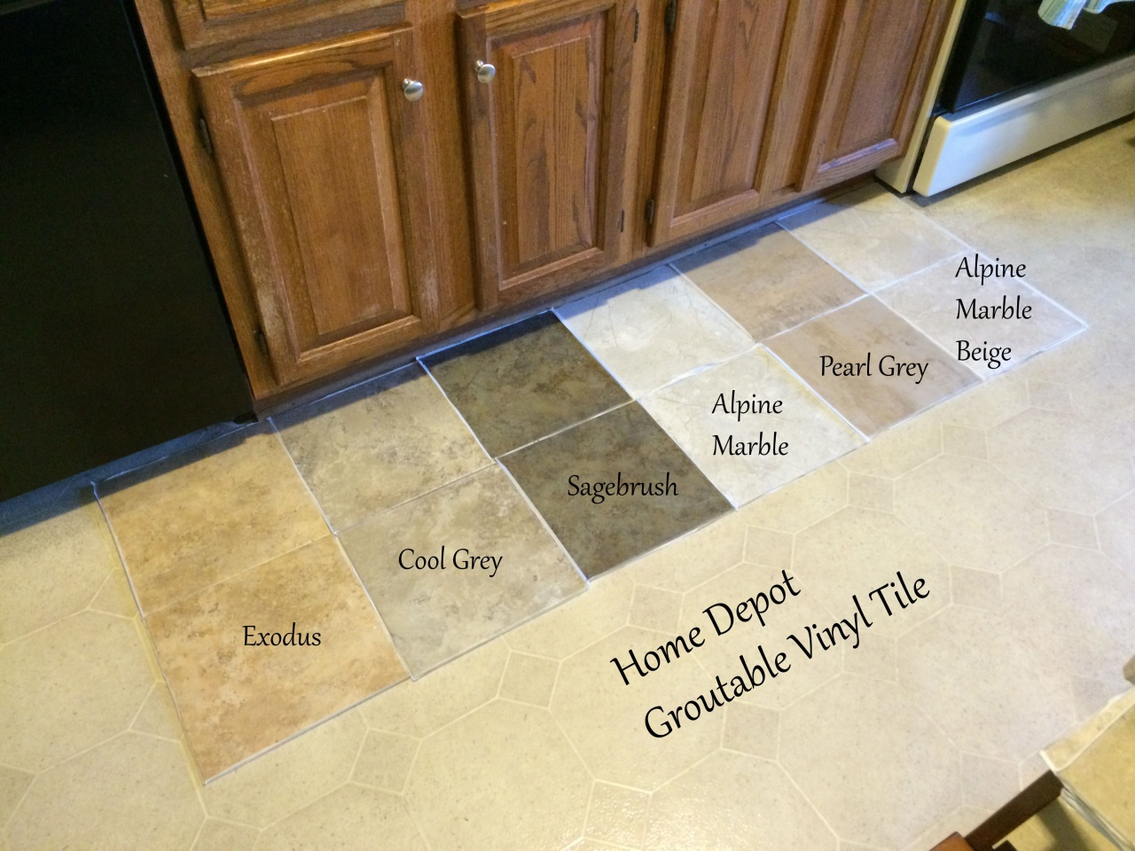 Painting Vinyl Tile Floors Before And After Looking For Kitchen Flooring Ideas Found Groutable Vinyl Equalmarriagefl Vinyl From Painting Vinyl Tile Floors Before And After Pictures