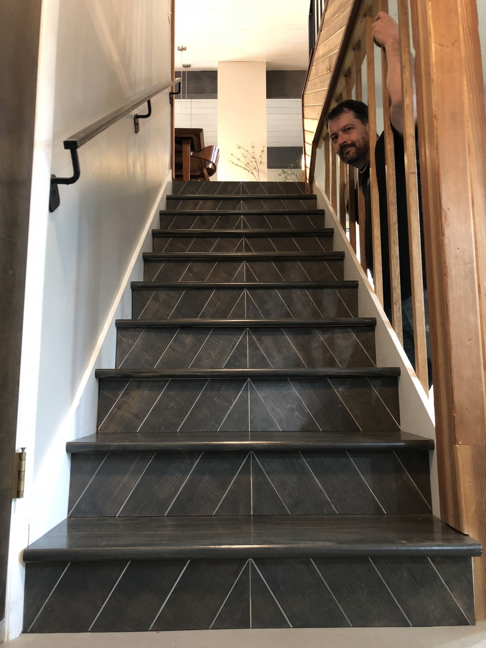 Image of: Vinyl Stairs Treads And Risers Copycat Fixer Upper Stair Risers In 2019 Equalmarriagefl Vinyl From Vinyl Stairs Treads And Risers Pictures